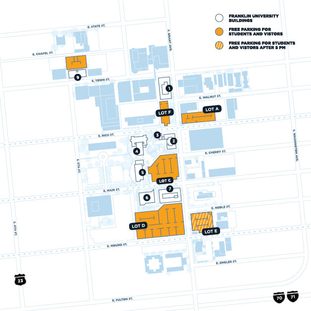 franklin university campus map University College In Downtown Columbus Ohio Franklin Edu franklin university campus map
