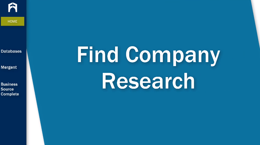 Find Company Research tutorial