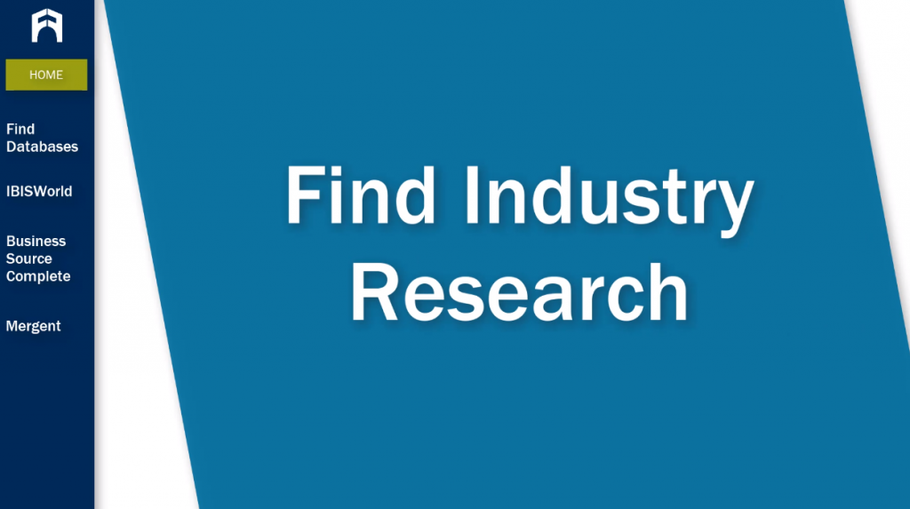 Find Industry Research tutorial
