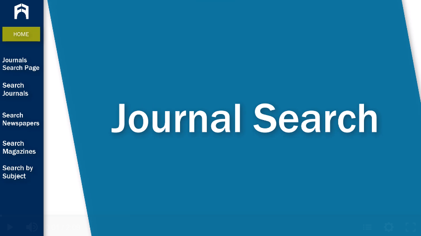 Journal Search tutorial