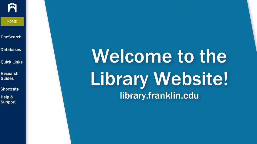 Welcome to the Library Website tutorial