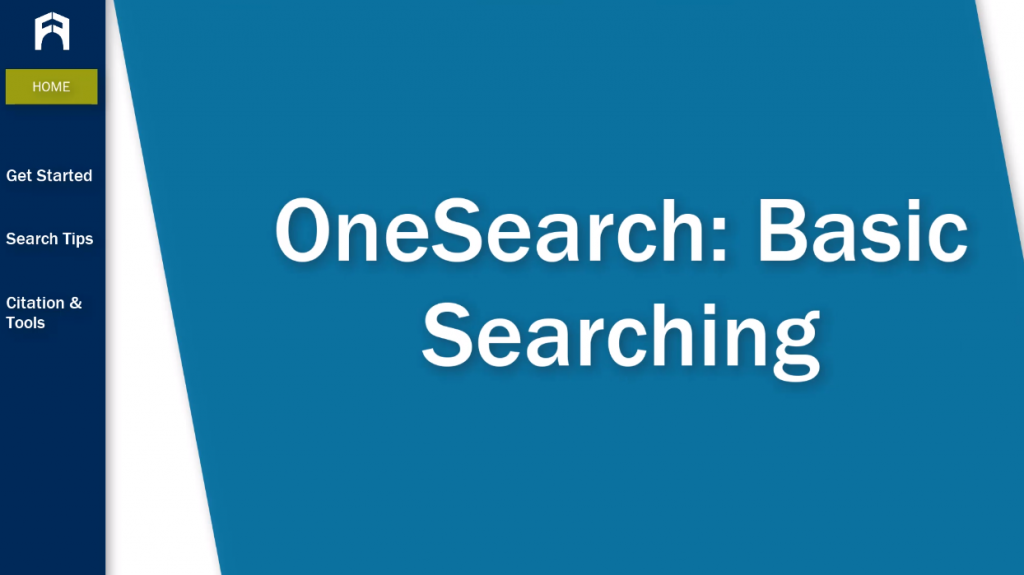 OneSearch: Basic Searching tutorial